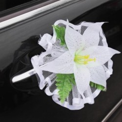 Wedding Decorations on Limo
